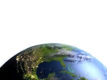 Północna Ameryka na planety ziemi Zdjęcie Royalty Free