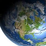 Północna Ameryka na planety ziemi Obraz Stock