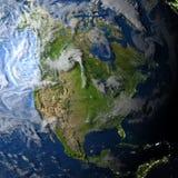 Północna Ameryka na planety ziemi Fotografia Stock