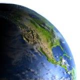 Północna Ameryka na planety ziemi Zdjęcia Royalty Free