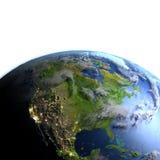 Północna Ameryka na planety ziemi Fotografia Royalty Free