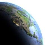 Północna Ameryka na planety ziemi Obrazy Royalty Free