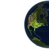 Północna Ameryka na planety ziemi Zdjęcia Stock