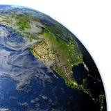Północna Ameryka na planety ziemi Obraz Royalty Free