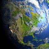 Północna Ameryka na planety ziemi Zdjęcie Stock
