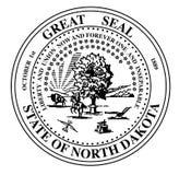 Północna Dakota stanu foka Zdjęcie Royalty Free