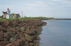 Północna Rustico schronienia latarnia morska fotografia royalty free
