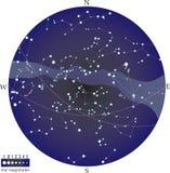 północne niebo ilustracji
