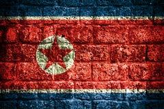 Północnego Korea flaga Zdjęcie Stock