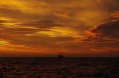 Północnego morza wieczór Zdjęcia Royalty Free