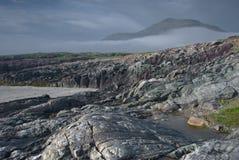 Północnej connemara mount rock morza fotografia royalty free