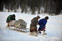 Północni aborygeny Rosja Yamal Nadym Zdjęcia Royalty Free