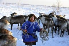 Północni aborygeny Rosja Yamal Nadym Zdjęcia Stock