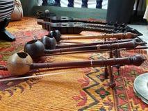 Północni Tajlandzcy rodzimi instrumenty muzyczni Fotografia Royalty Free