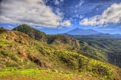 Północno-zachodni góry Tenerife, Canarian wyspy Fotografia Stock
