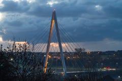 Północny iglica most zdjęcia royalty free