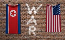 Północny Korea i usa Zdjęcie Stock
