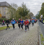 Północny odprowadzenie sporta wakacje, maraton w Niemcy, Magdeburskim, oktober 2015 Obrazy Stock