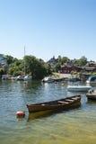 Północny schronienia Vaxholm Sztokholm archipelag Obrazy Royalty Free