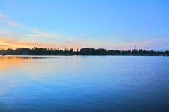 Północny schronienie i Vyborg ugoda na zmierzchu w Vyborg, Rosja Zdjęcia Stock