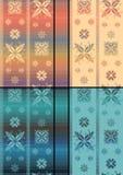 Północny Tradycyjny Snowflacke wzór Zdjęcie Royalty Free
