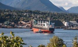 Północny Vancouver port Zdjęcia Stock