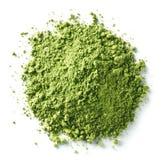 Pó verde do chá do matcha imagem de stock royalty free