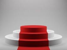 Pódio com tapete vermelho Imagem de Stock Royalty Free