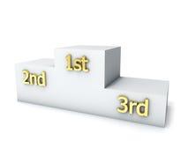 Pódio da concessão dos vencedores Fotografia de Stock Royalty Free