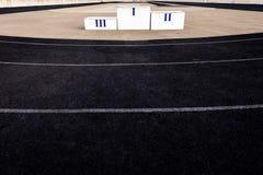 Pódio do atletismo Imagens de Stock