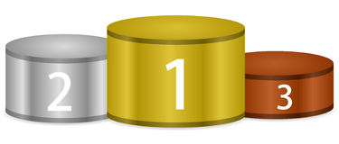 Pódio do vencedor Imagem de Stock