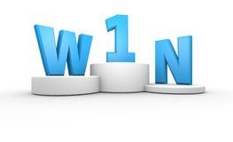 Pódio dos vencedores Imagem de Stock