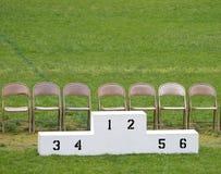 Pódio dos vencedores Fotos de Stock