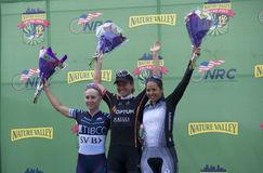 Pódio dos vencedores das mulheres no critério da parte alta da cidade Imagens de Stock Royalty Free