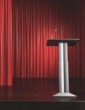 Pódio e cortina vermelha Imagens de Stock Royalty Free