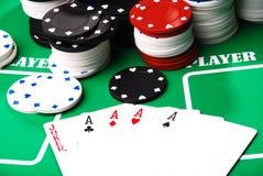 Póker Imágenes de archivo libres de regalías