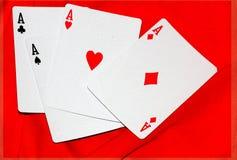Póker abstracto de la tarjeta del as del color Imagen de archivo libre de regalías