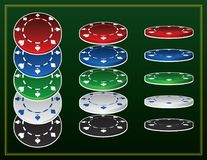 Póker Chip Vector Icon Sets Imagen de archivo libre de regalías