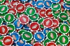 Póker Chips Background Imágenes de archivo libres de regalías
