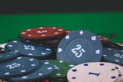 Póker Chips Multi Color Imagen de archivo