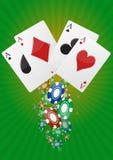 Póker de Ace Imagen de archivo libre de regalías