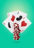 Póker de Ace Imagen de archivo