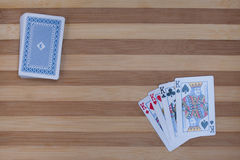 Póker de cuatro reyes Imágenes de archivo libres de regalías