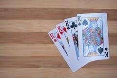 Póker de cuatro reyes Fotografía de archivo