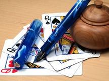 Póker de la pluma Imagen de archivo