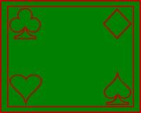 Póker de la tarjeta Fotografía de archivo