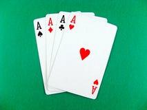 Póker de la tarjeta del as que juega imagenes de archivo