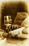 Póker de la vendimia Imagen de archivo