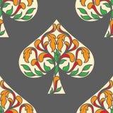 Póker de las espadas como modelo de la tarjeta Imagen de archivo