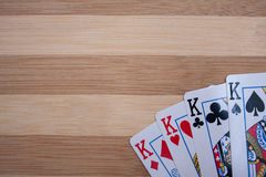 Póker de los reyes Imagen de archivo